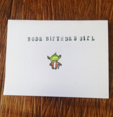 Yoda Birthday Boy Card
