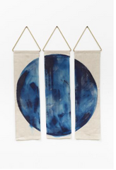 Ciervo painted linen wall hanging