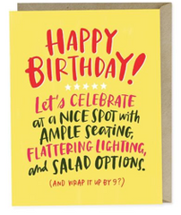 Ample Seating Birthday Card