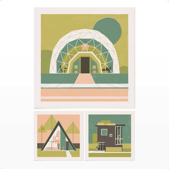 Chris Turnham Three Geometric Houses