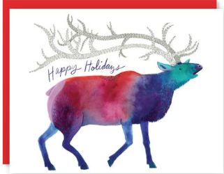 Elk Holiday Card