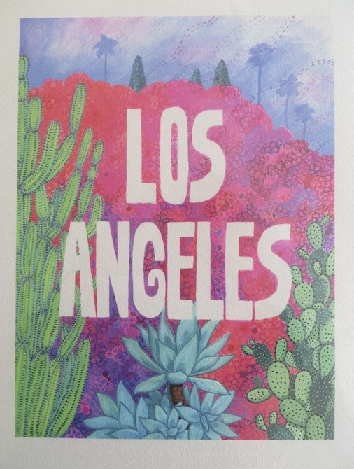 Los Angeles with succlents and hills