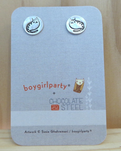 Load image into Gallery viewer, Sterling Silver Cat Earrings