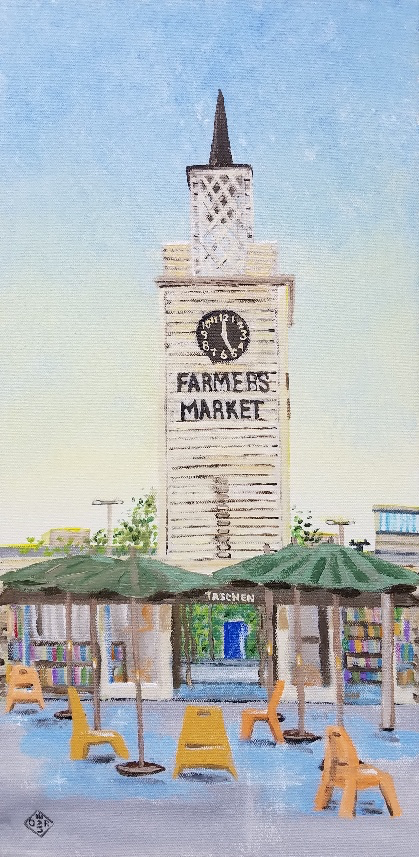 """Farmers Market"" acrylic on canvas panel"