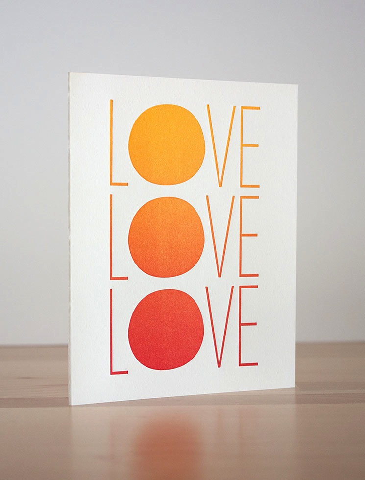 Fugu Fugu Press Love Sunset Card