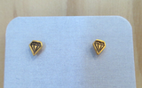 Faux Diamond Gold Vermeil Earrings