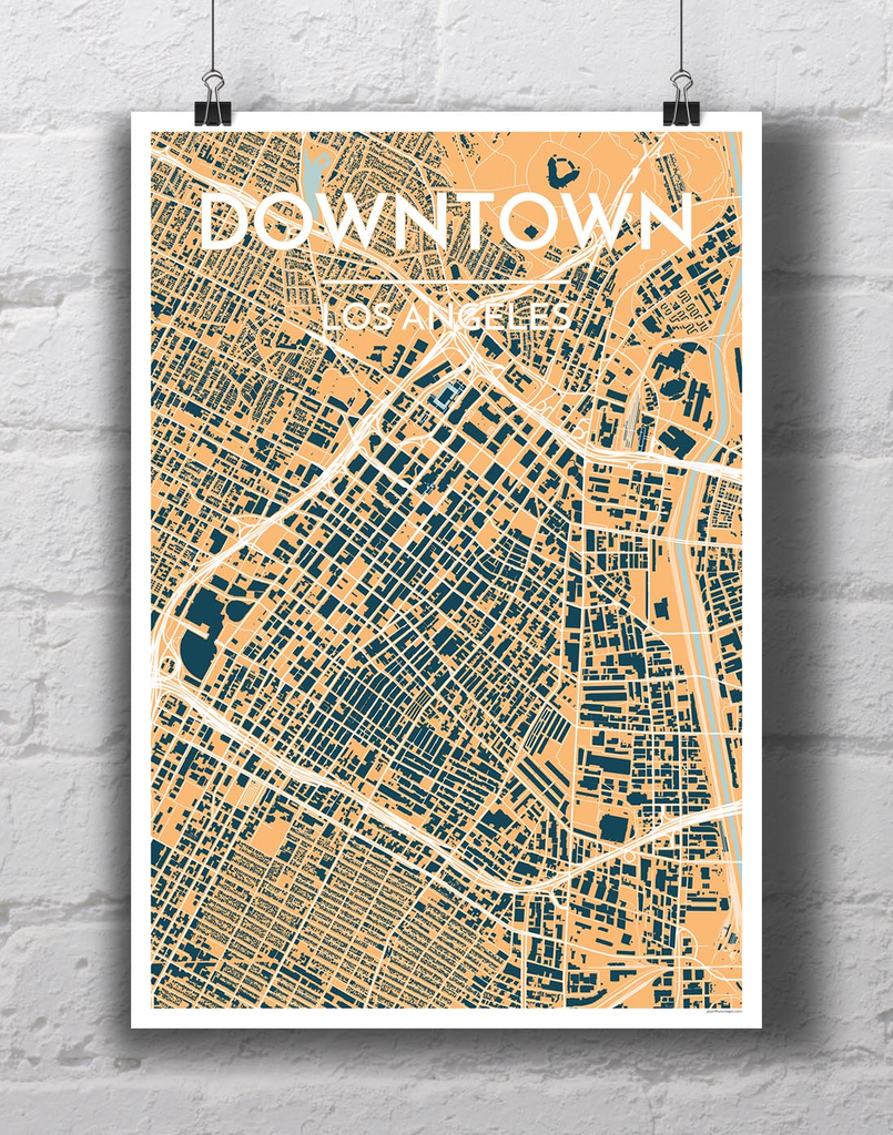 Downtown Los Angeles GIS Map Los Angeles County Store