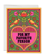 For My Favorite Person Card