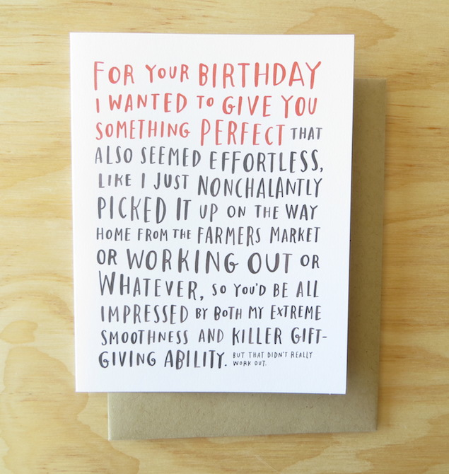 Emily McDowell Awkward Birthday Card