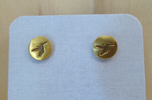 Load image into Gallery viewer, Gold Vermeil Humming Bird Earrings