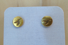 Gold Vermeil Humming Bird Earrings