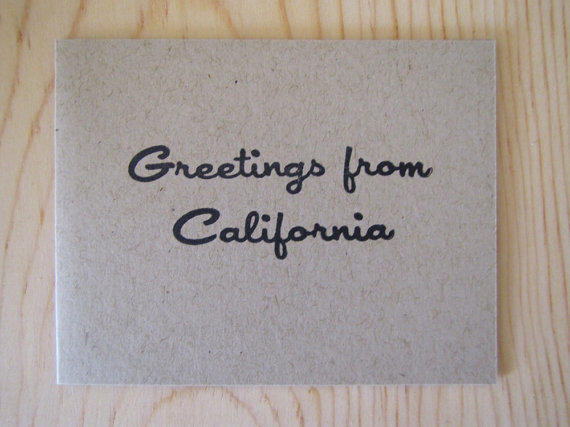 Ink and Smog Greetings from California Card Set of 4