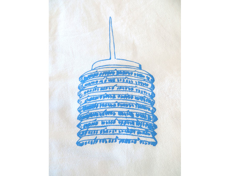 Capitol Records Souvenir Tea Towel