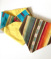 2 pack Serape Bandanas for babies and small pets