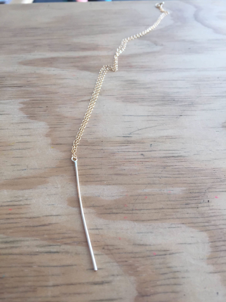Spike Necklace in Gold Fill