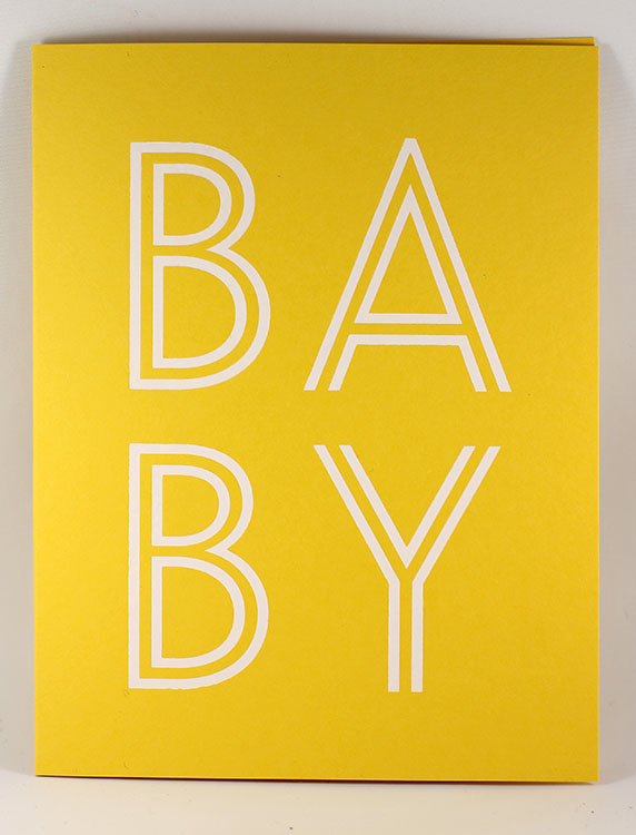 Yellow BABY Card