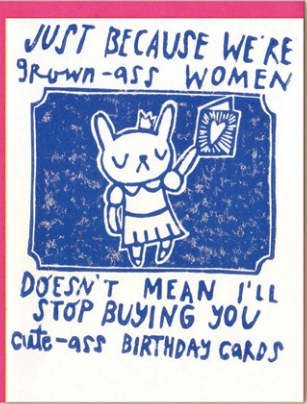 Grown Ass Women Birthday Card