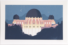 Load image into Gallery viewer, Griffith Observatory at Night Print