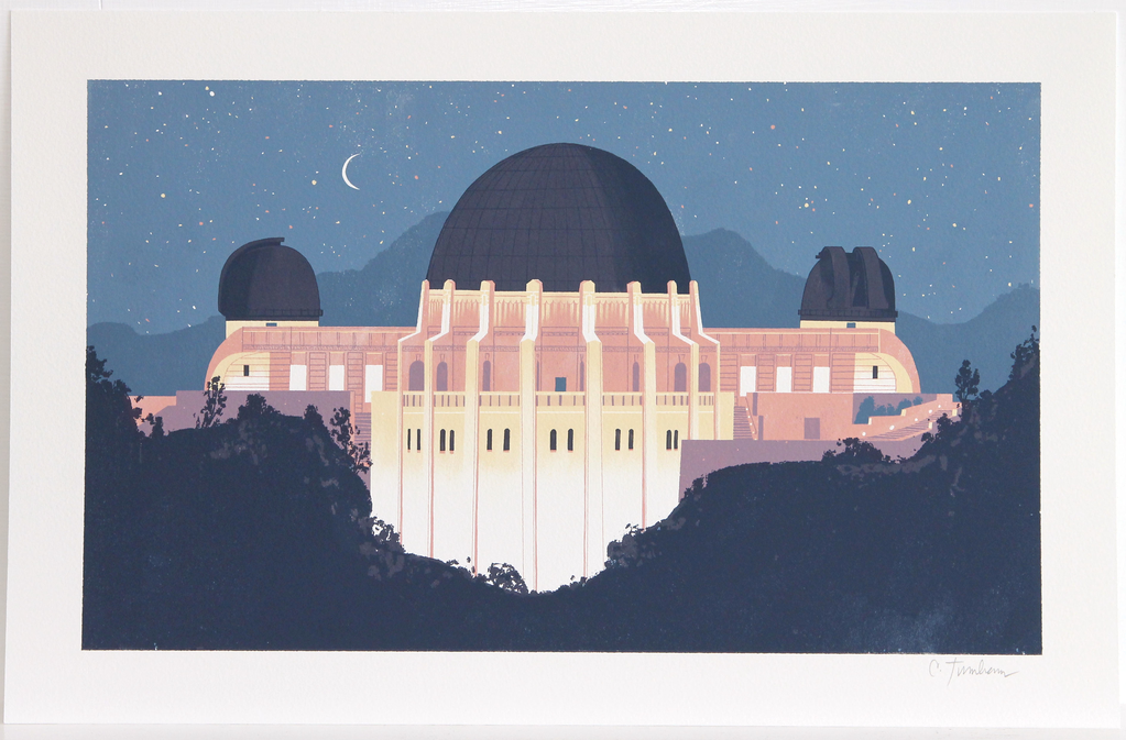 Griffith Observatory at Night Print