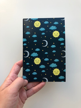 "Load image into Gallery viewer, moon sun 4X6"" 40 Page Notebook"