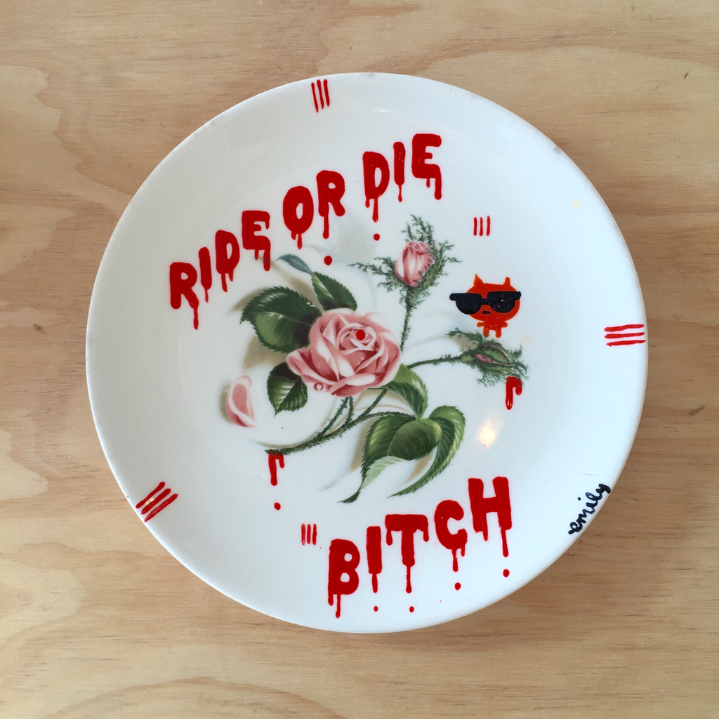 Ride or Die Bitch Plate