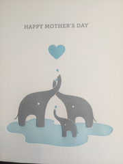 Elephant Mother's Day Card