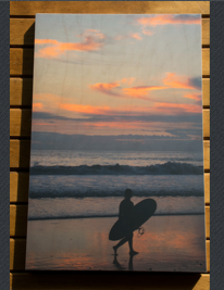 Surfer Girl Matted Photo
