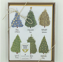 Xmas Tree Holiday Card Box of 8
