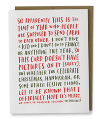 Awkward Holiday Box of 8 Cards
