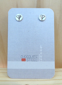 California Poppy Sterling Silver Earrings