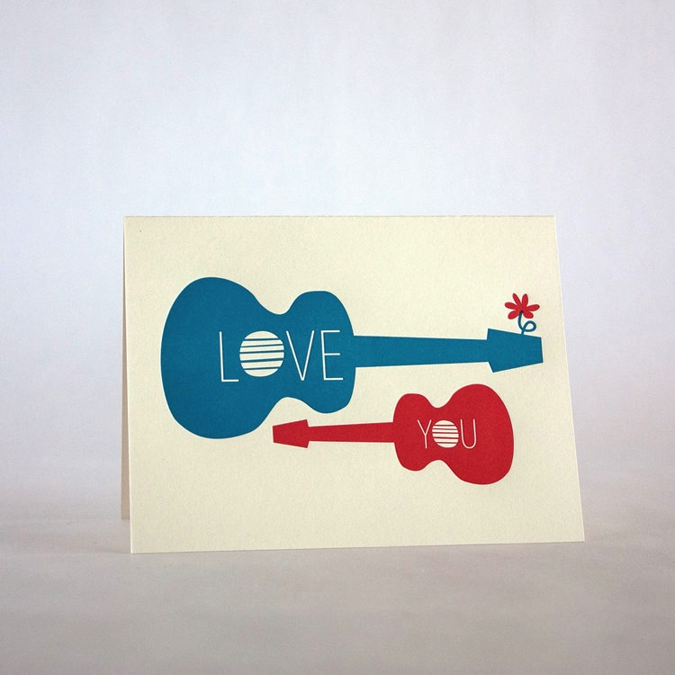 Fugu Fugu Press Love You Guitars Card