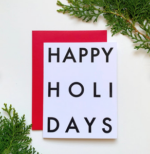 Happy Holidays Card Set of 4