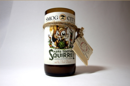 Squirrel Beer Candle