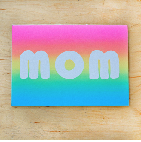 Mom Gradient Mother's Day Card