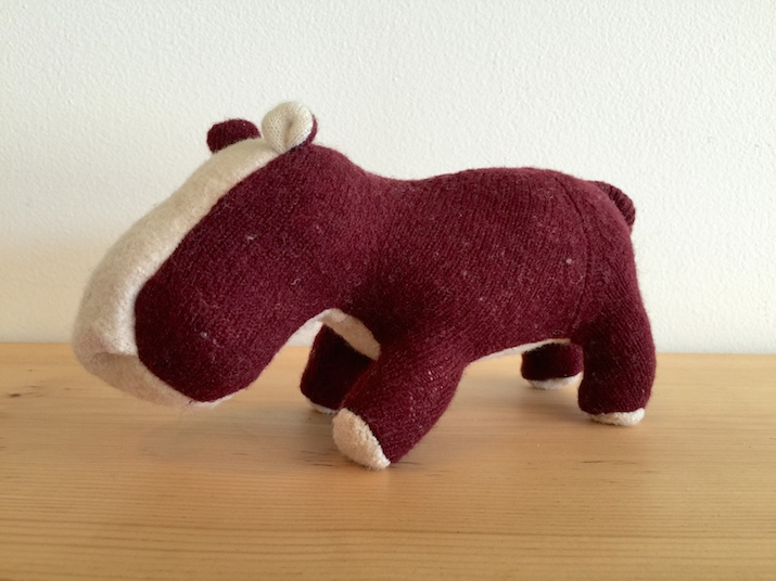 Hippo made of Recycled Sweater