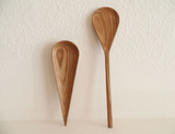 Oak spoon and spoon rest