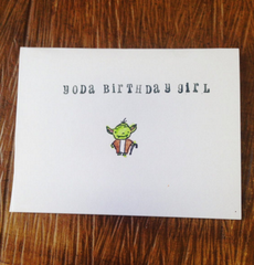 Yoda Birthday Girl Card