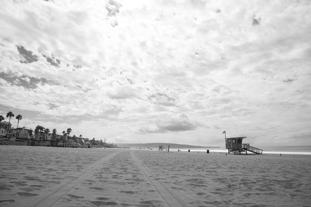 El Porto BEach Sky 5x7 matted photo