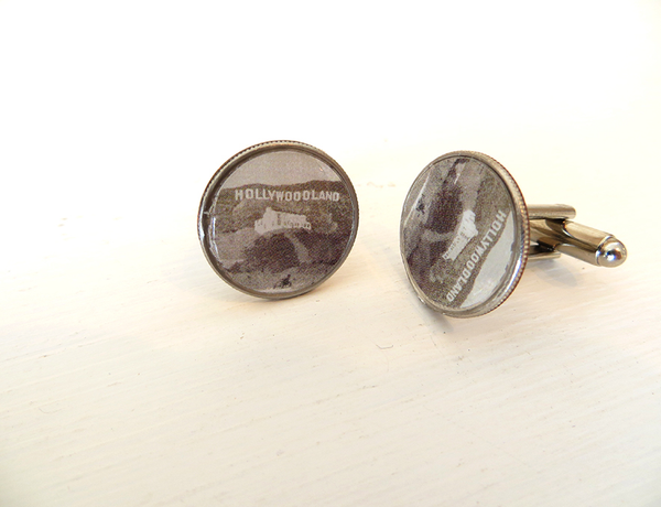 Hollywood LA Landmark Cuff Links