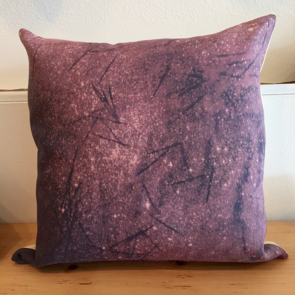 Dark Gray Aurora Pillow