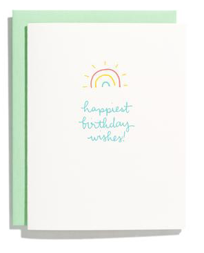Rainbow Burst Happy Birthday Card