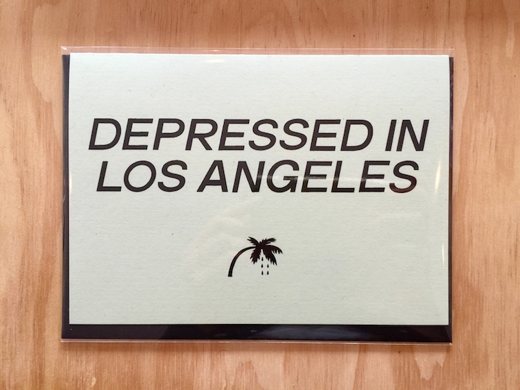Depressed in Los Angeles Card