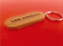 Bamboo Los Angeles Key Ring