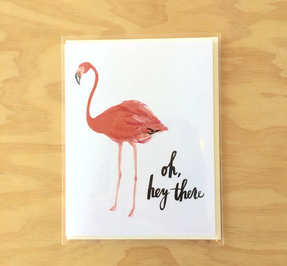 Oh Hey There Flamingo Card