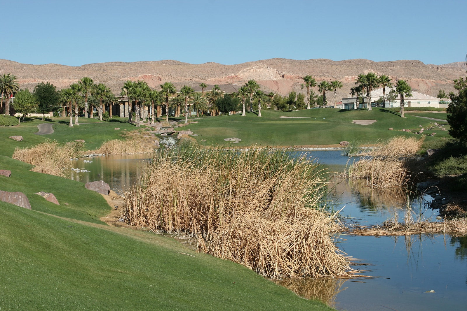 A golf course view in Las Vegas, Nevada