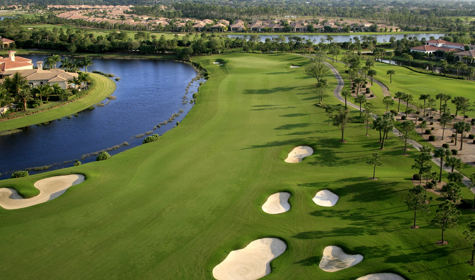 An aerial photograph of a golf course in Florida. ** Note: Slight blurriness, best at smaller sizes