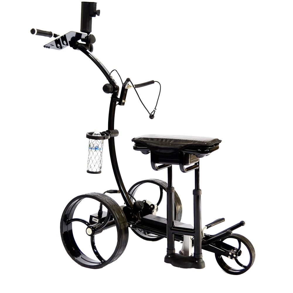 Electric golf trolley with seat