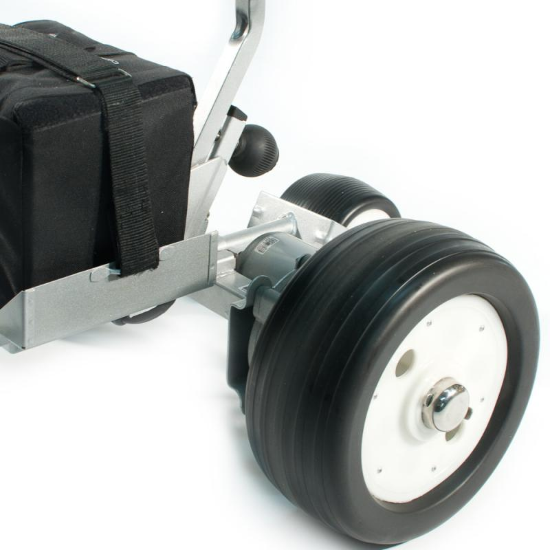Drive wheels and battery on GRX1200R from Cart Tek