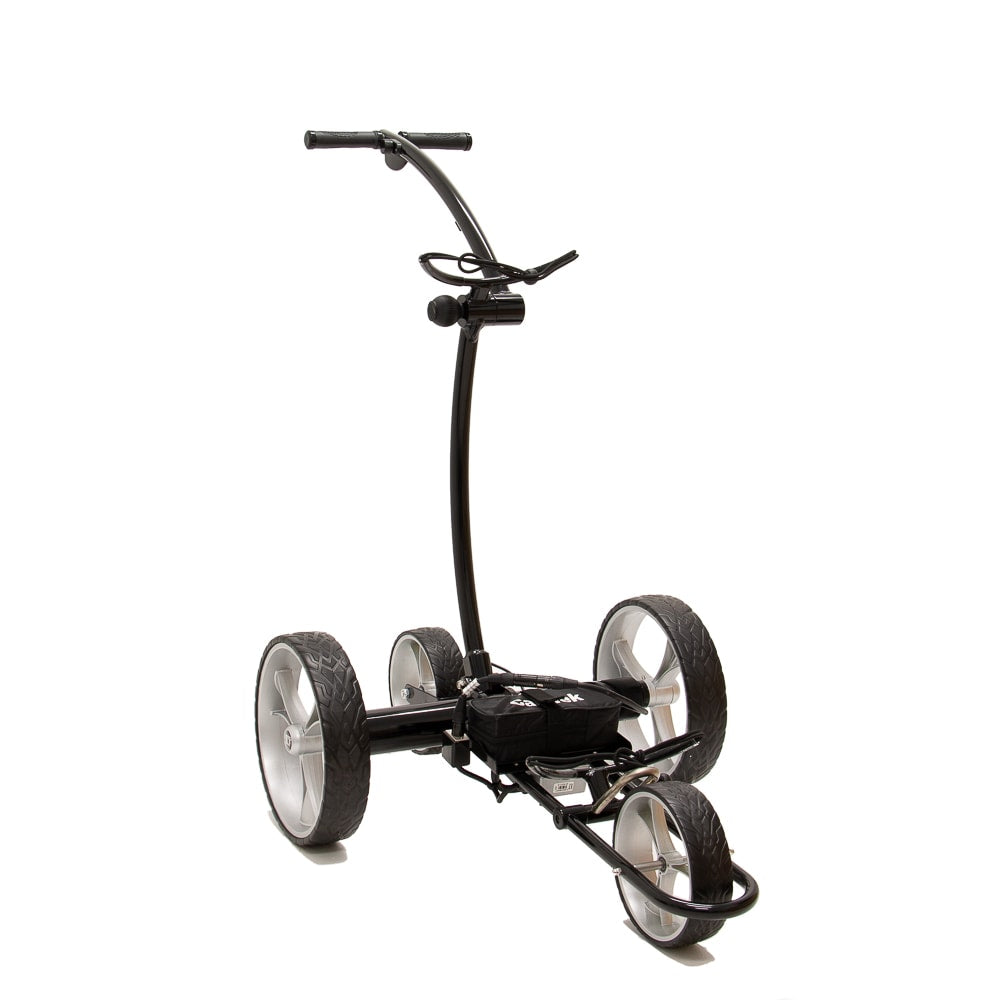 Best Selling and Value Cart Tek GRi-1500Li Black Remote Controlled Golf Caddie. Front Side View