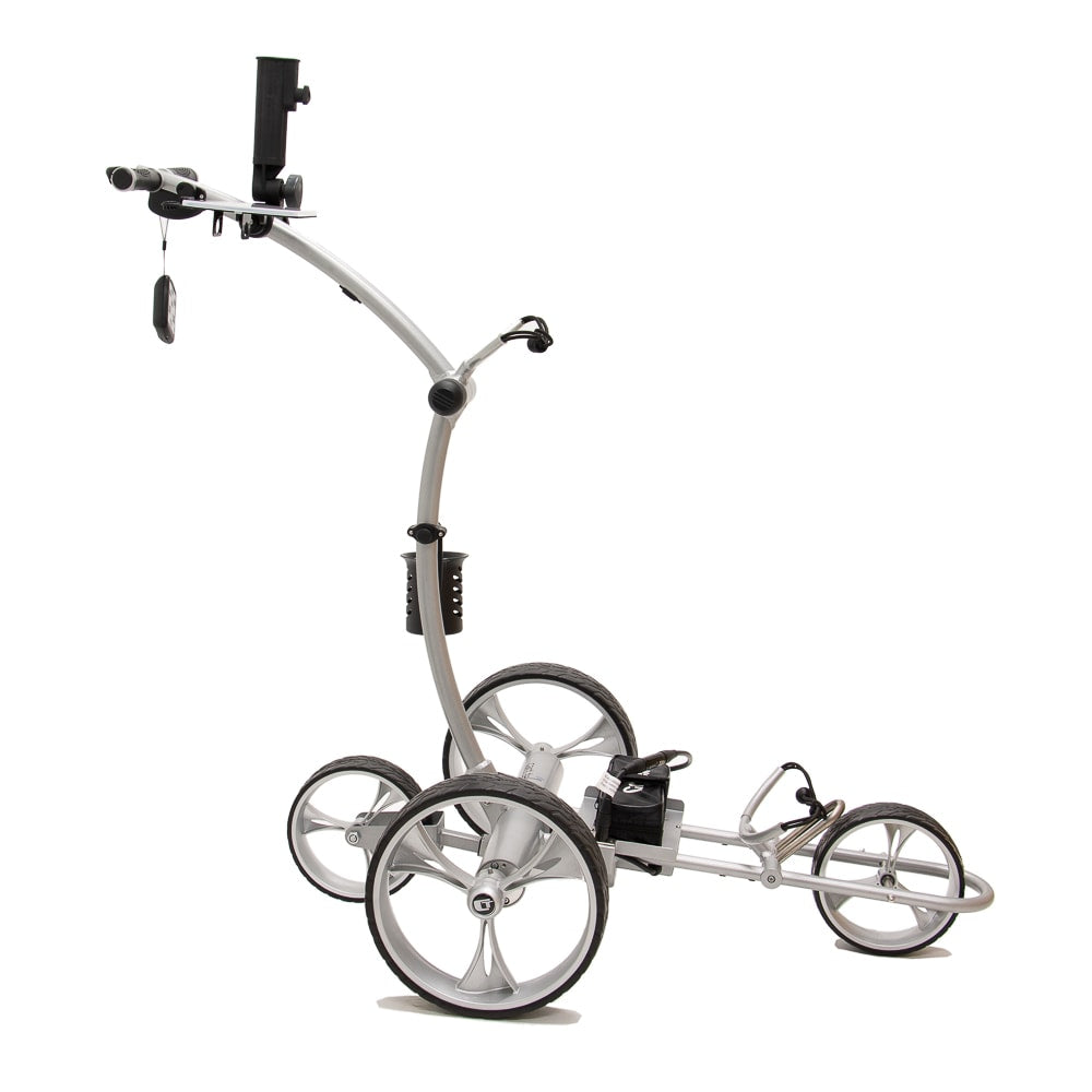Best Selling and Value Cart Tek GRi-1500Li Silver Remote Controlled Golf Caddie. Side View